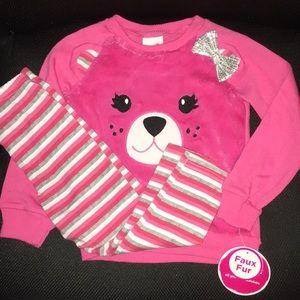 Girls Pink Sweater Pant Set Toddler 4T NWT